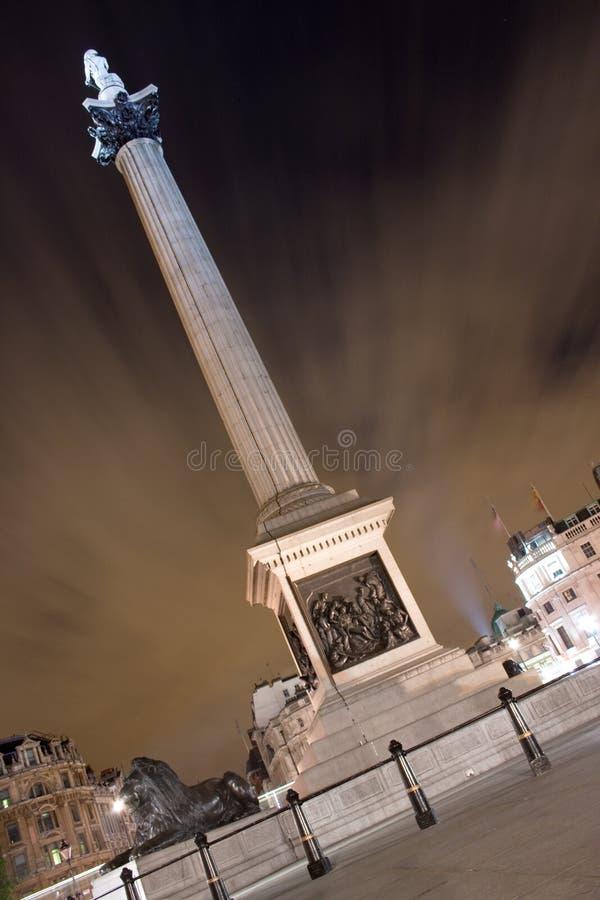 Columna de Nelson, cuadrado de Trafalgar, Londres, Reino Unido imagenes de archivo