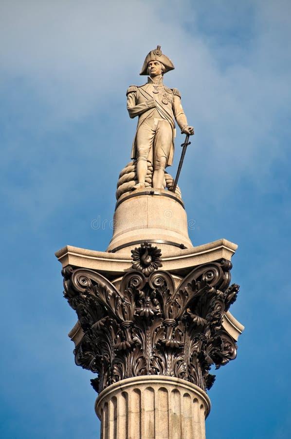 Columna de Nelson en cuadrado trafalgar imagen de archivo