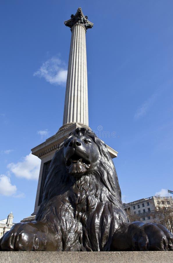 Columna de Nelson en el cuadrado de Trafalgar imagen de archivo libre de regalías