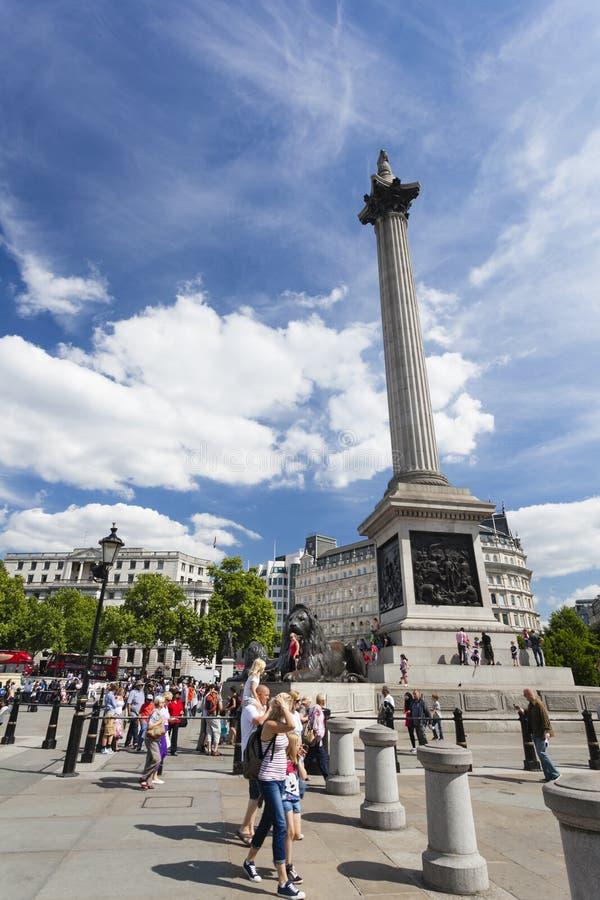 Columna de Nelsons en Londres, editorial imagen de archivo libre de regalías