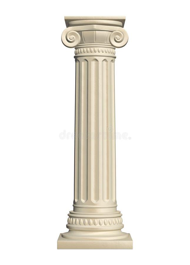 Columna de piedra stock de ilustración