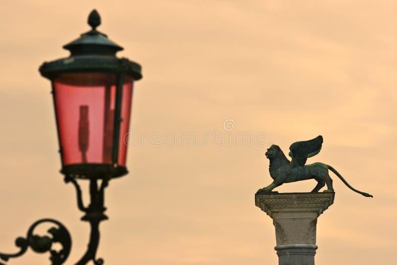 Columna de San Marcos, Venecia foto de archivo libre de regalías