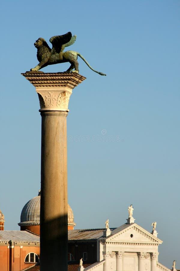Columna de San Marcos, Venecia foto de archivo