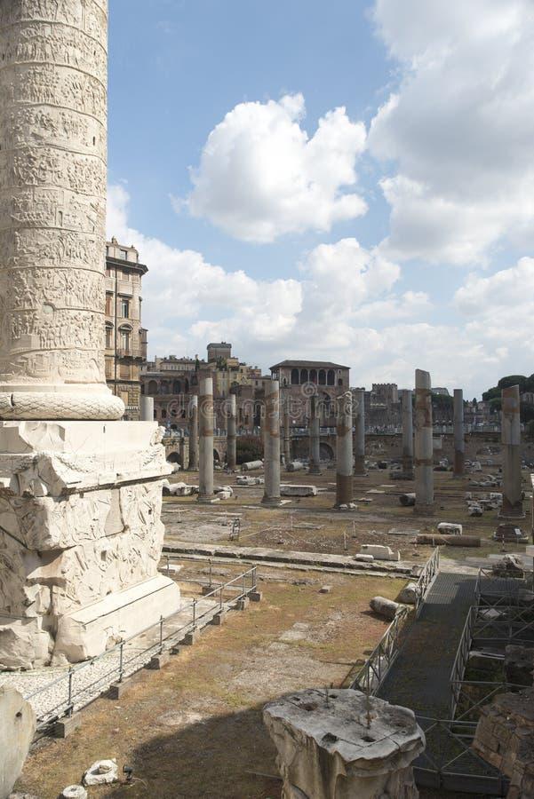 Columna de Trajan, Roma fotos de archivo