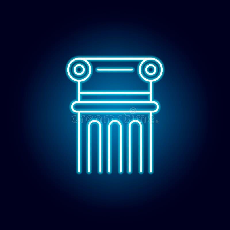 columna, decoración, icono del esquema del adorno en el estilo de neón elementos de la línea icono del ejemplo de la educación la libre illustration
