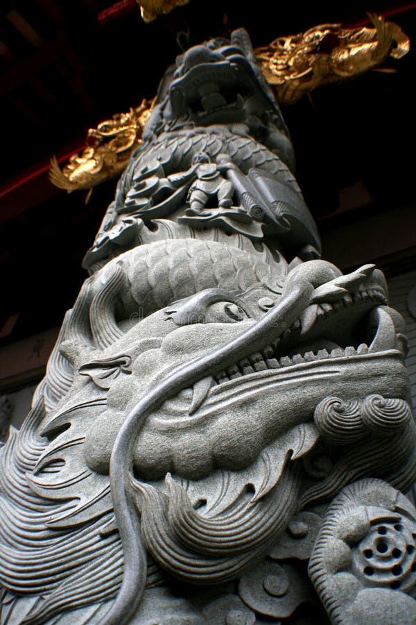 Columna del dragón fotografía de archivo libre de regalías