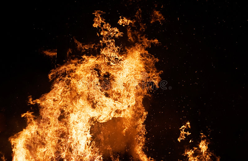 Columna del fuego imagenes de archivo