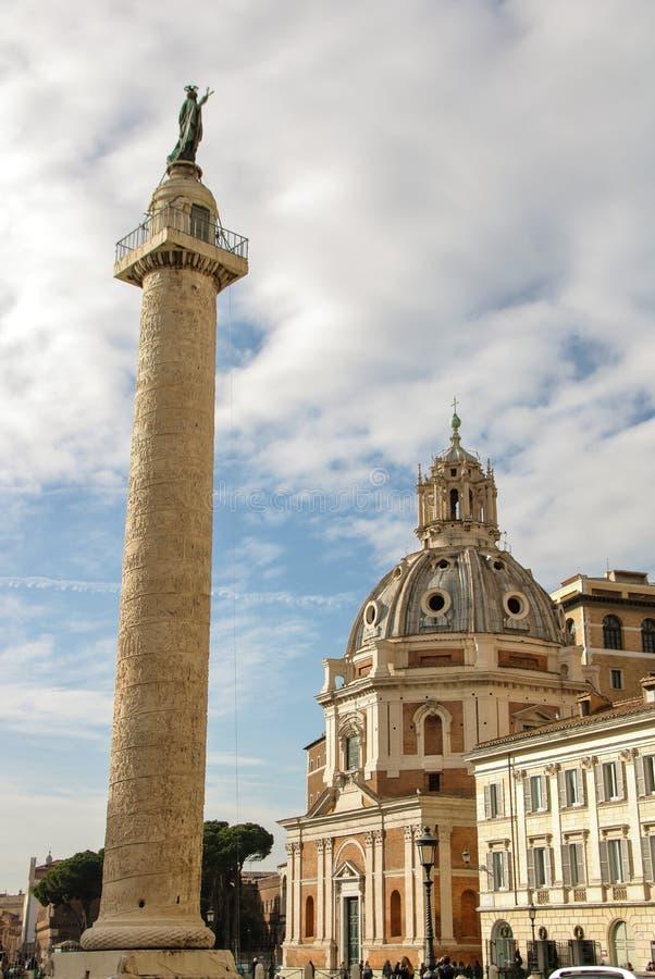Columna del ` s de Trajan imagenes de archivo