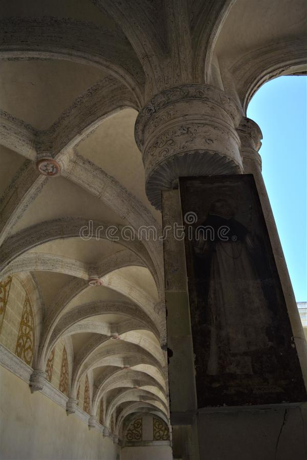 Columna en el Convento de Santo Domingo en Oaxaca. One of the most beautiful and important places in Oaxaca city, a place full of history. Amazing construction stock photos