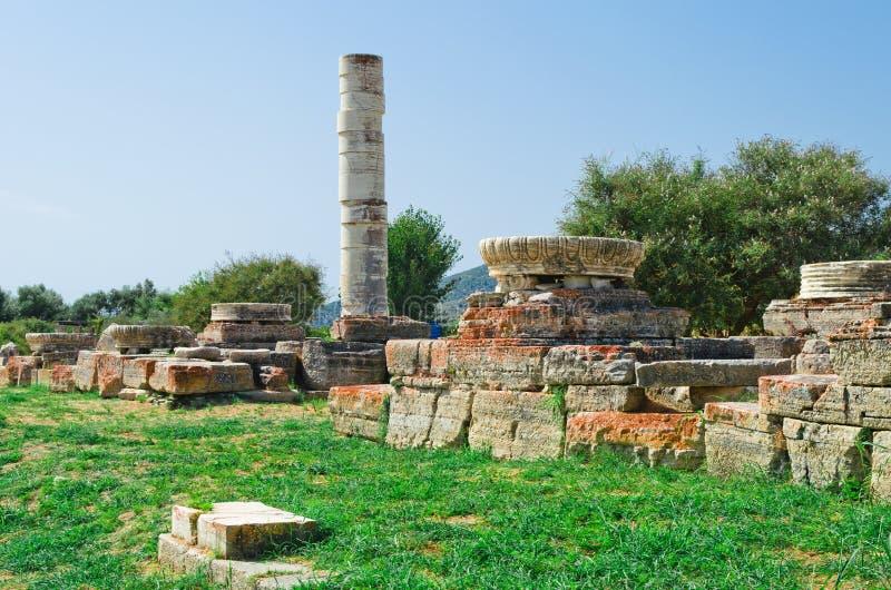 Columna en Heraion foto de archivo