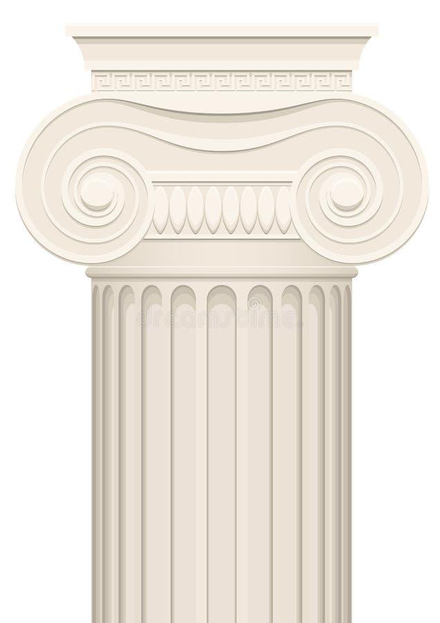 Columna griega ilustración del vector