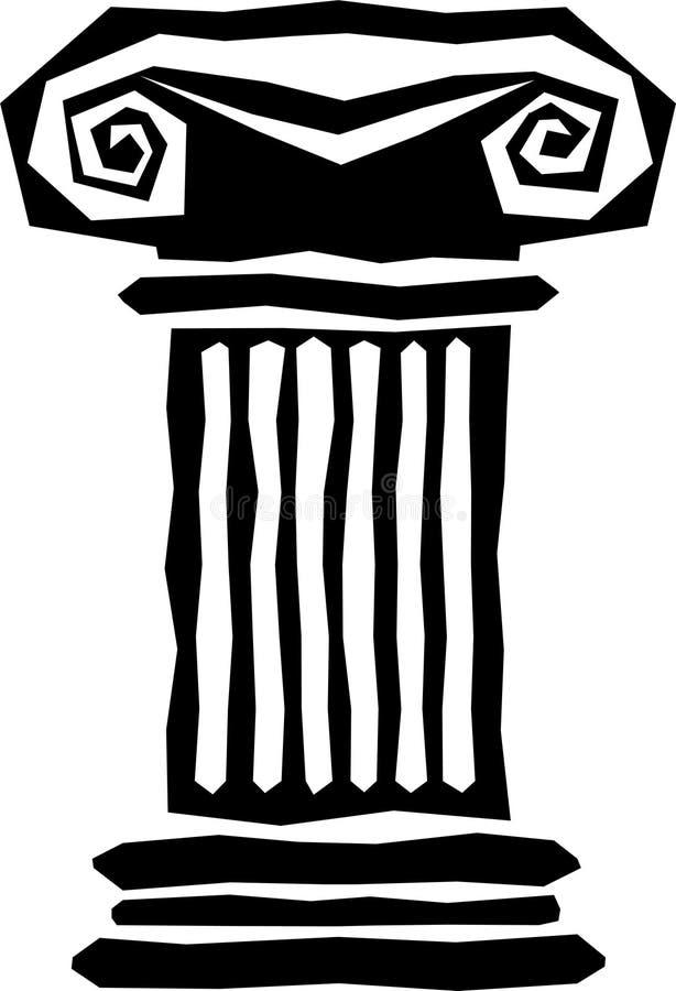 Columna griega abstracta ilustración del vector