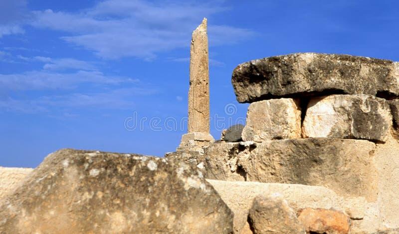 Columna griega del templo foto de archivo