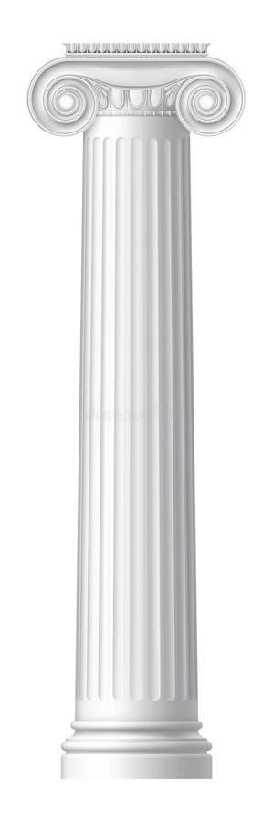 Columna griega iónica ilustración del vector