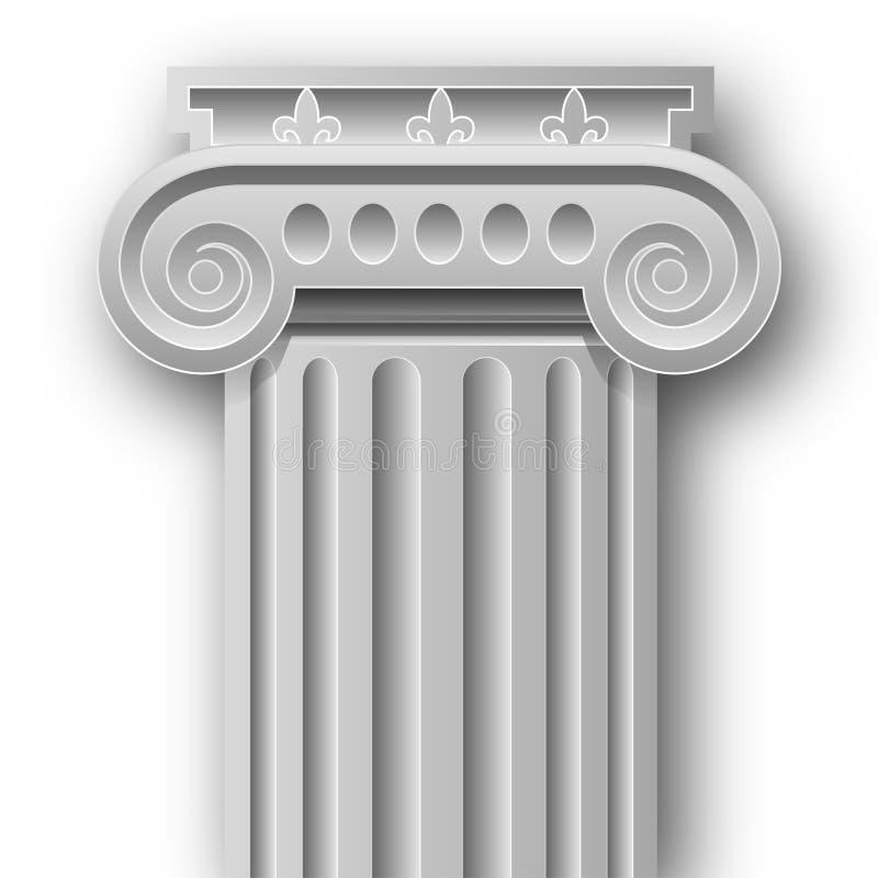 Columna iónica ilustración del vector