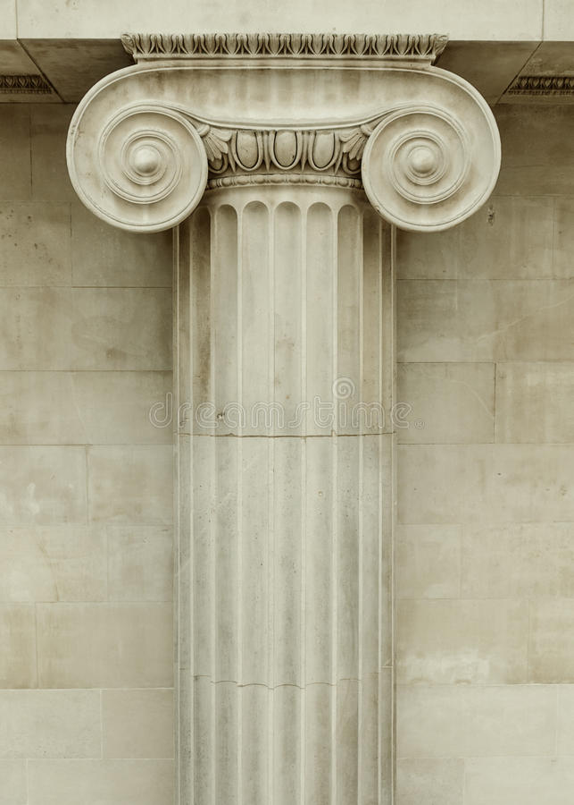 Columna iónica foto de archivo