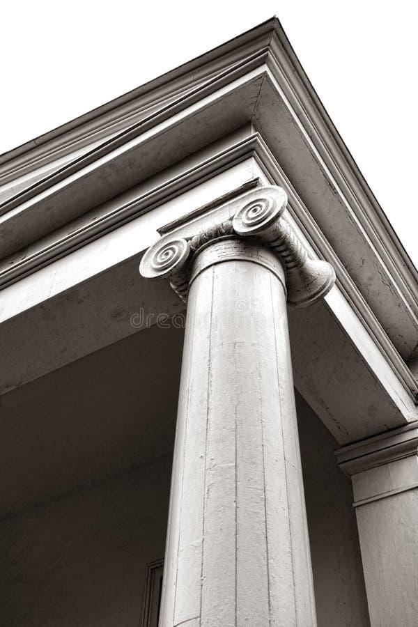 Columna iónica y capital del estilo griego del renacimiento imagen de archivo libre de regalías