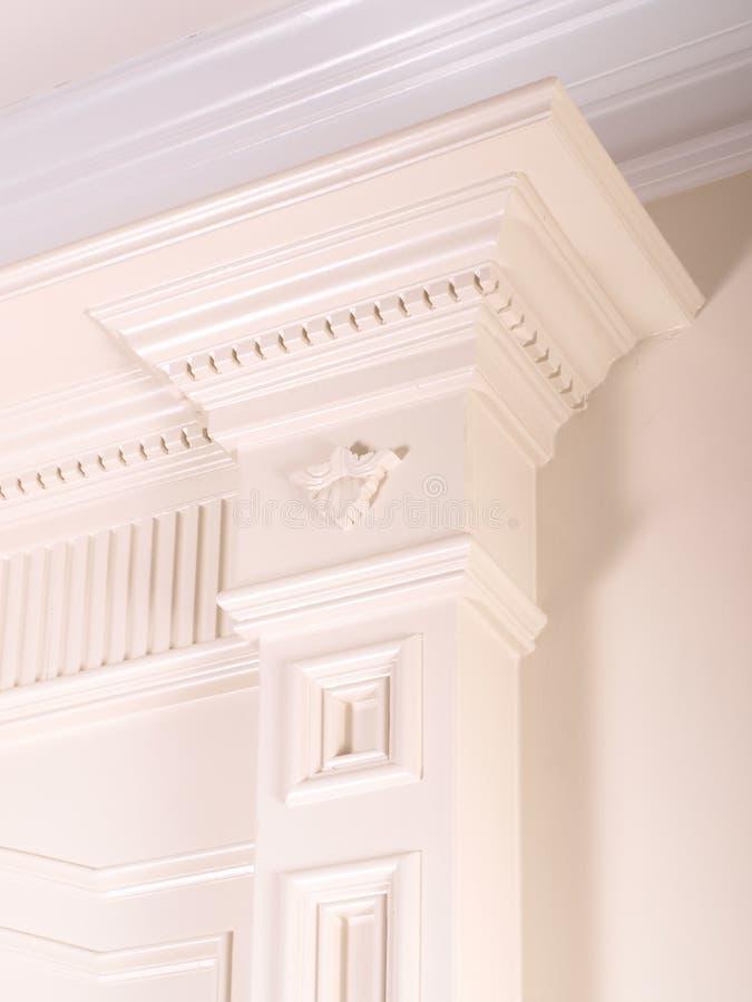Columna interior decorativa de lujo foto de archivo libre de regalías