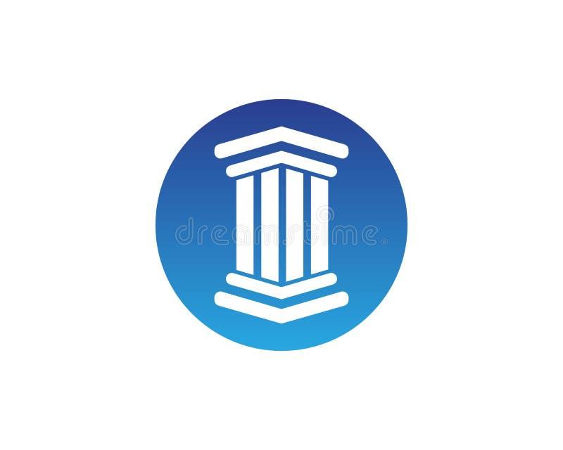Columna Logo Template stock de ilustración