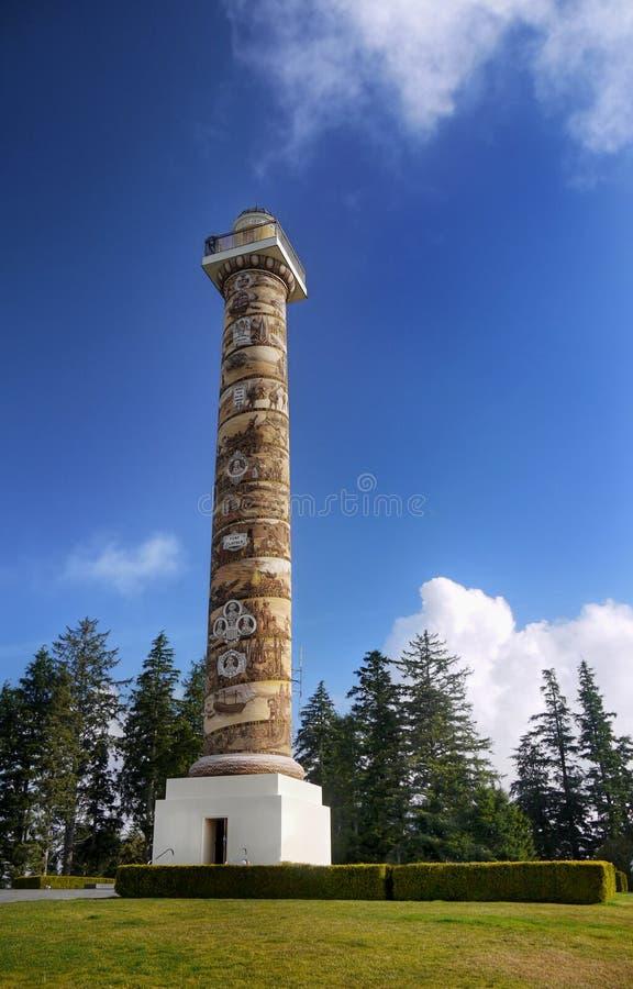 Columna Oregon Estados Unidos de Astoria foto de archivo libre de regalías