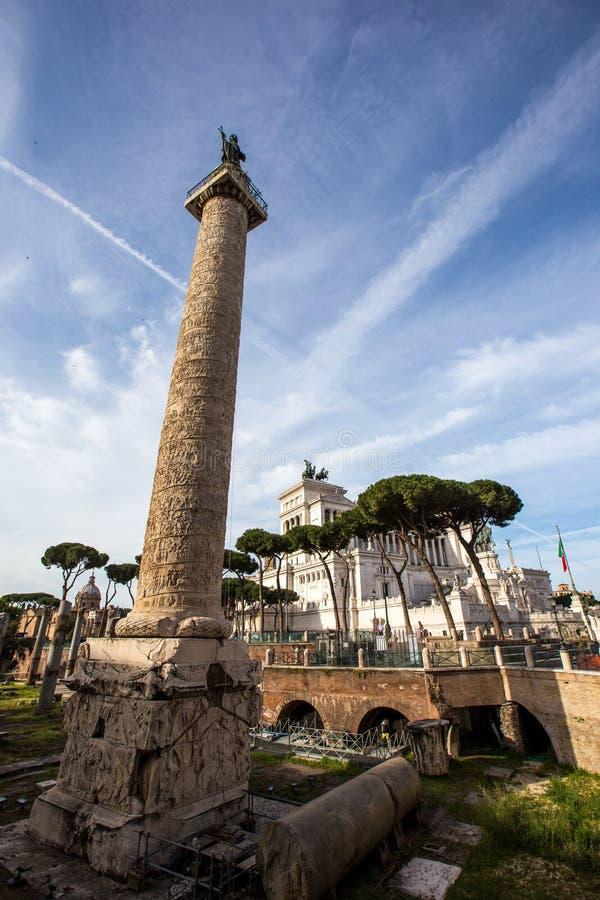 Columna Roma del ` s de Trajan foto de archivo libre de regalías