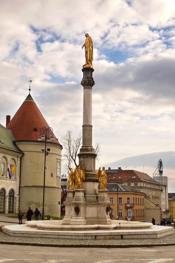 Columna santa de Maria, Zagreb, Croacia fotografía de archivo libre de regalías