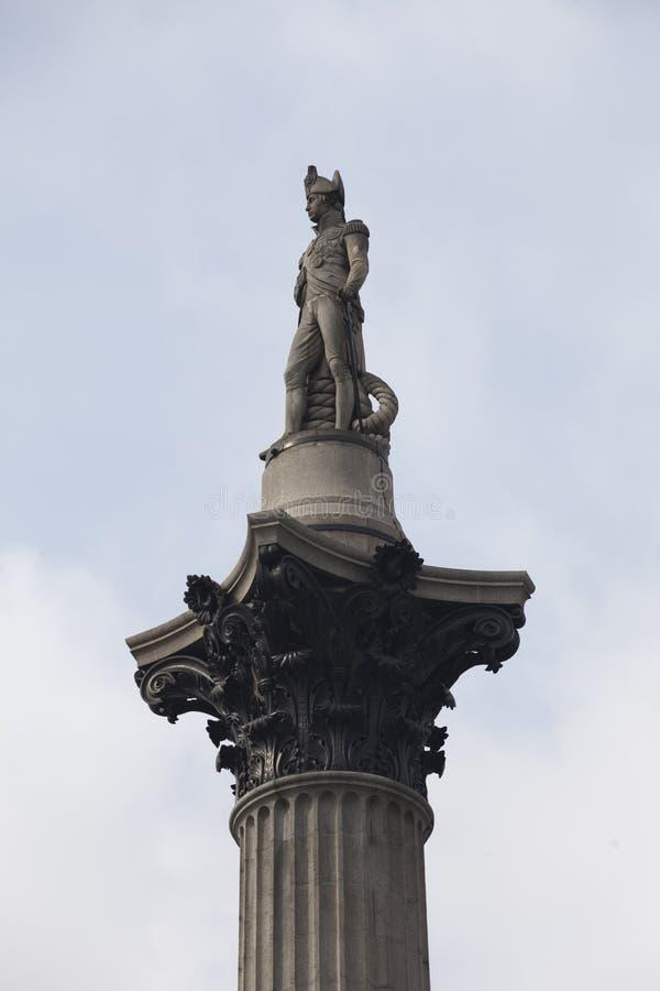 Columna Trafalgar Londres cuadrado de Nelson foto de archivo libre de regalías