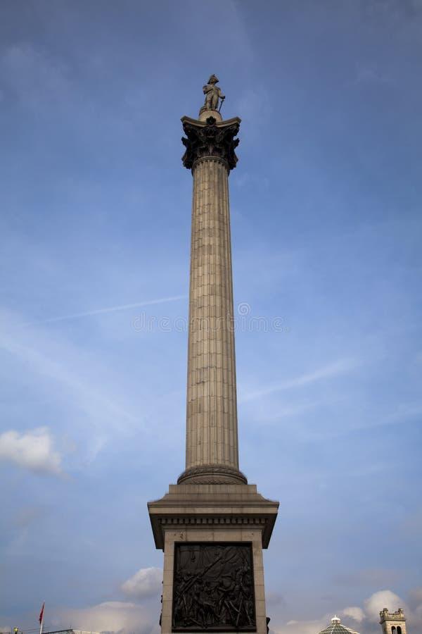 Columna Trafalgar Londres cuadrado de Nelson imágenes de archivo libres de regalías