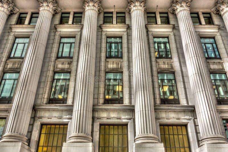 Columna antigua del edificio en Montreal. foto de archivo libre de regalías