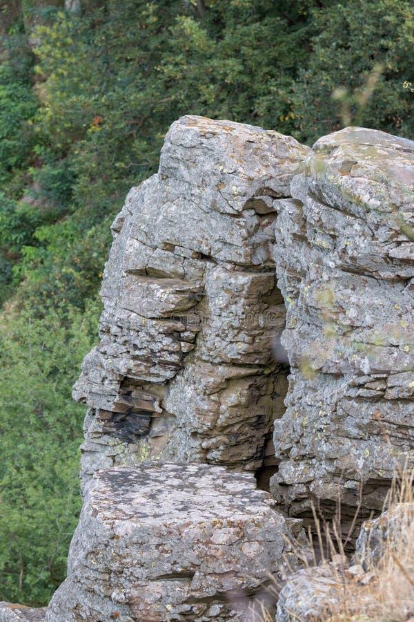 Columnar basalt arkivbild