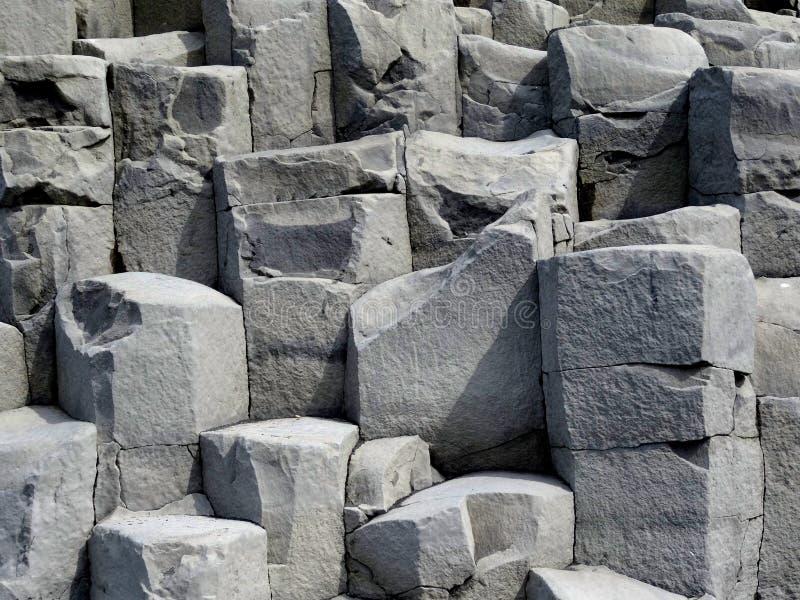 Columnar basalt royaltyfria bilder