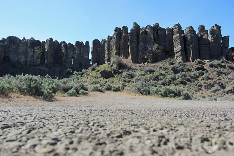 Columnar basaltpelare arkivfoton