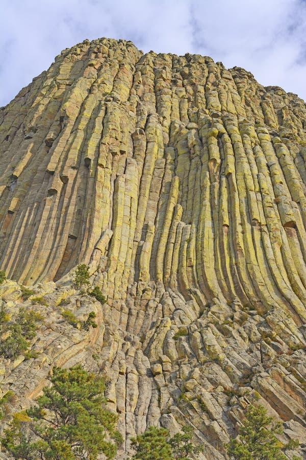 Columnar foga ihop på ett vulkaniskt remant royaltyfri fotografi
