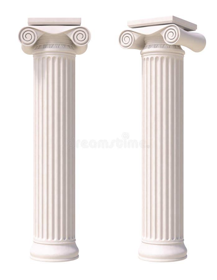 Columnas antiguas stock de ilustración