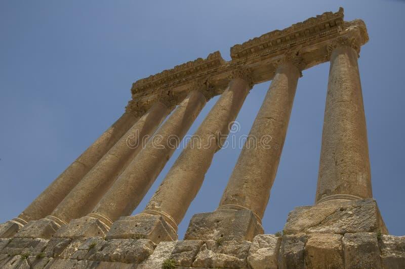 Columnas antiguas, Baalbeck, Líbano imagen de archivo