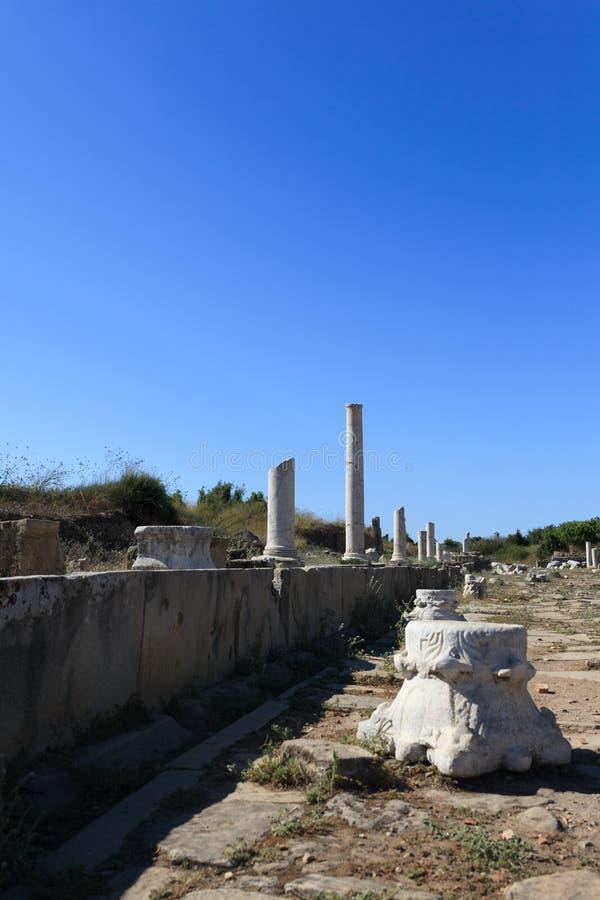 Columnas arruinadas 6 imagen de archivo libre de regalías