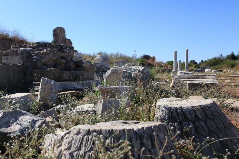 Columnas arruinadas 2 foto de archivo