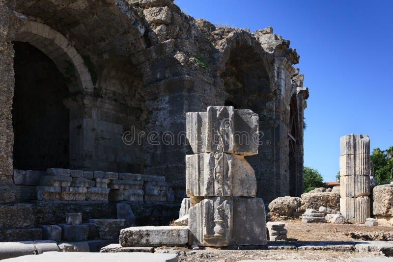 Columnas arruinadas 5 foto de archivo