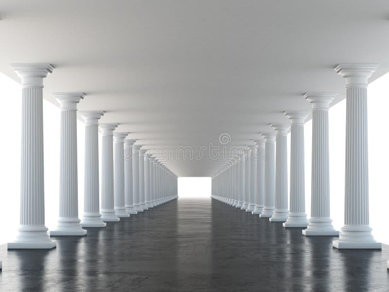 Columnas blancas stock de ilustración