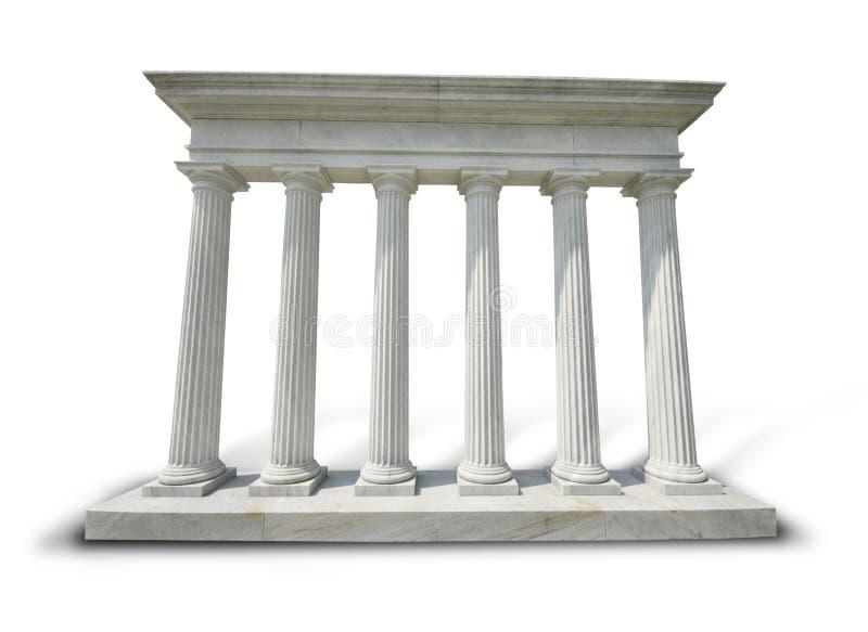 Columnas blancas - camino de recortes fotos de archivo