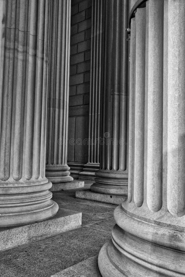 Columnas clásicas imagenes de archivo