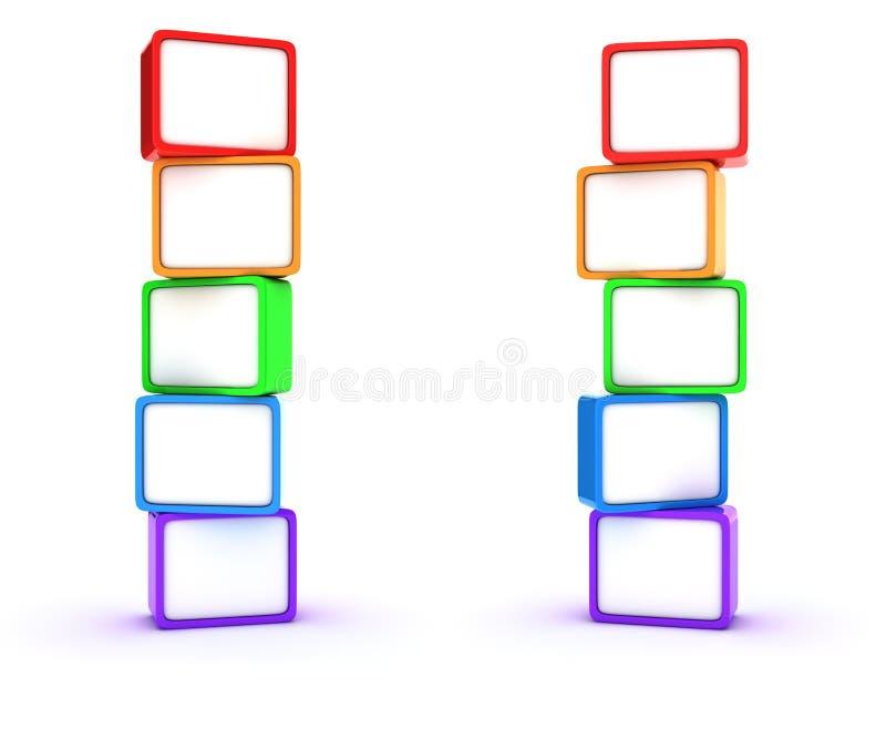 Columnas de cubos libre illustration