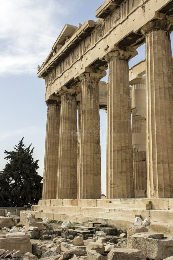 Columnas de la acrópolis fotografía de archivo