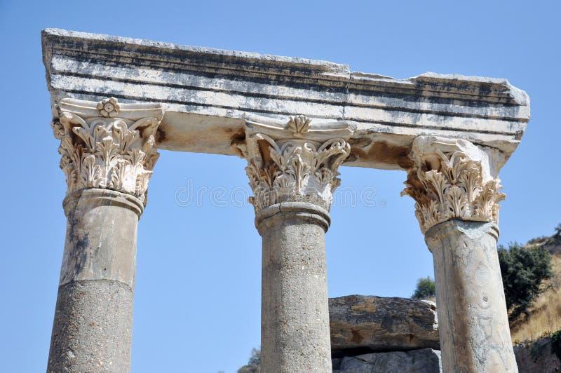 Columnas de la ciudad antigua de Ephesus, Esmirna, Turquía imagen de archivo