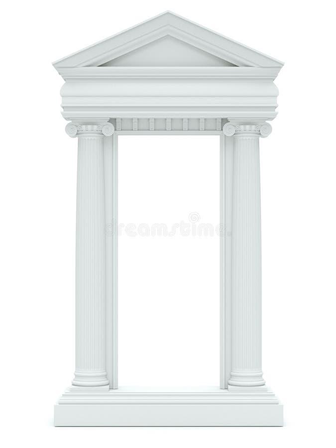Columnas de mármol aisladas en el fondo blanco fotos de archivo libres de regalías