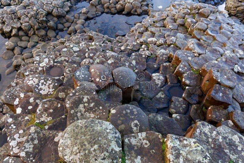 Columnas del basalto del terraplén de Giants fotos de archivo libres de regalías