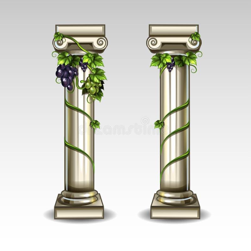 Columnas del griego clásico ilustración del vector