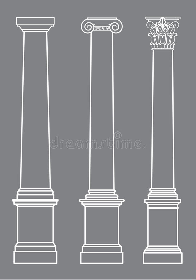 Columnas del vector clásicas libre illustration