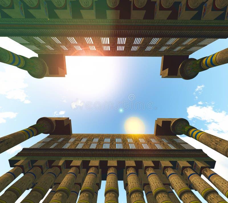 Templo egipcio stock de ilustración