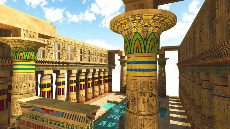Templo egipcio libre illustration